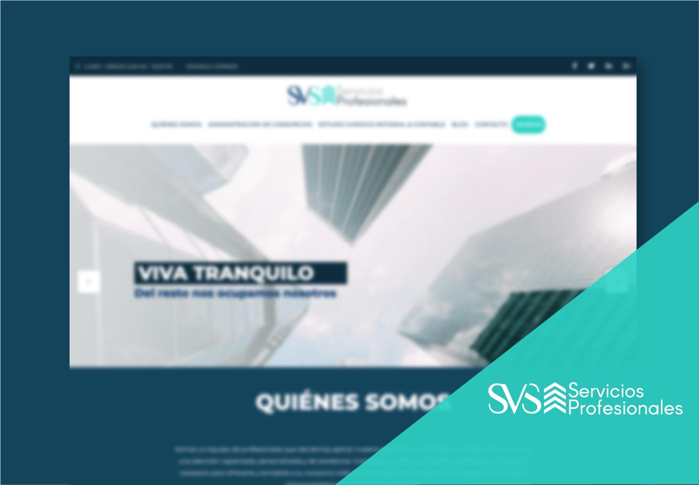 SVS Servicios Profesionales: sitio web con área de clientes