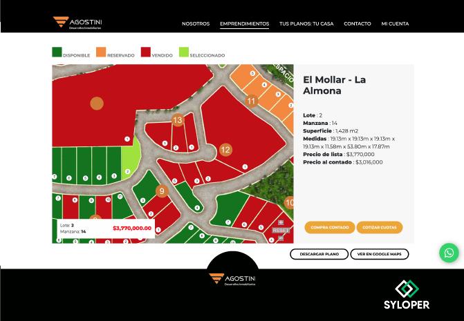 Agostini: Un sistema web con funcionalidades de CRM