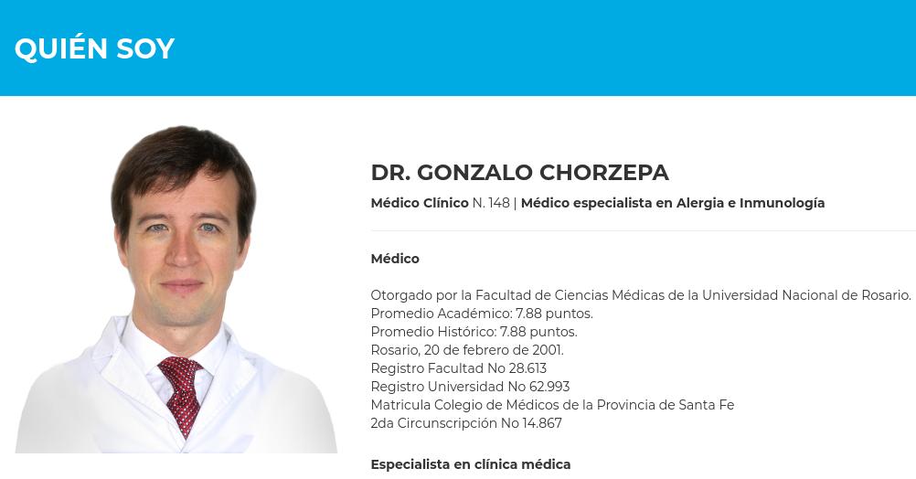 Sitio Institucional Dr. Gonzalo Chorzepa