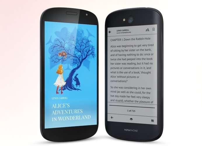 Sus creadores recomiendan leer e-books con el YotaPhone 2, ya que la tinta electrónica no tiene retroiluminación y esto es un beneficio para cuidar la visión.