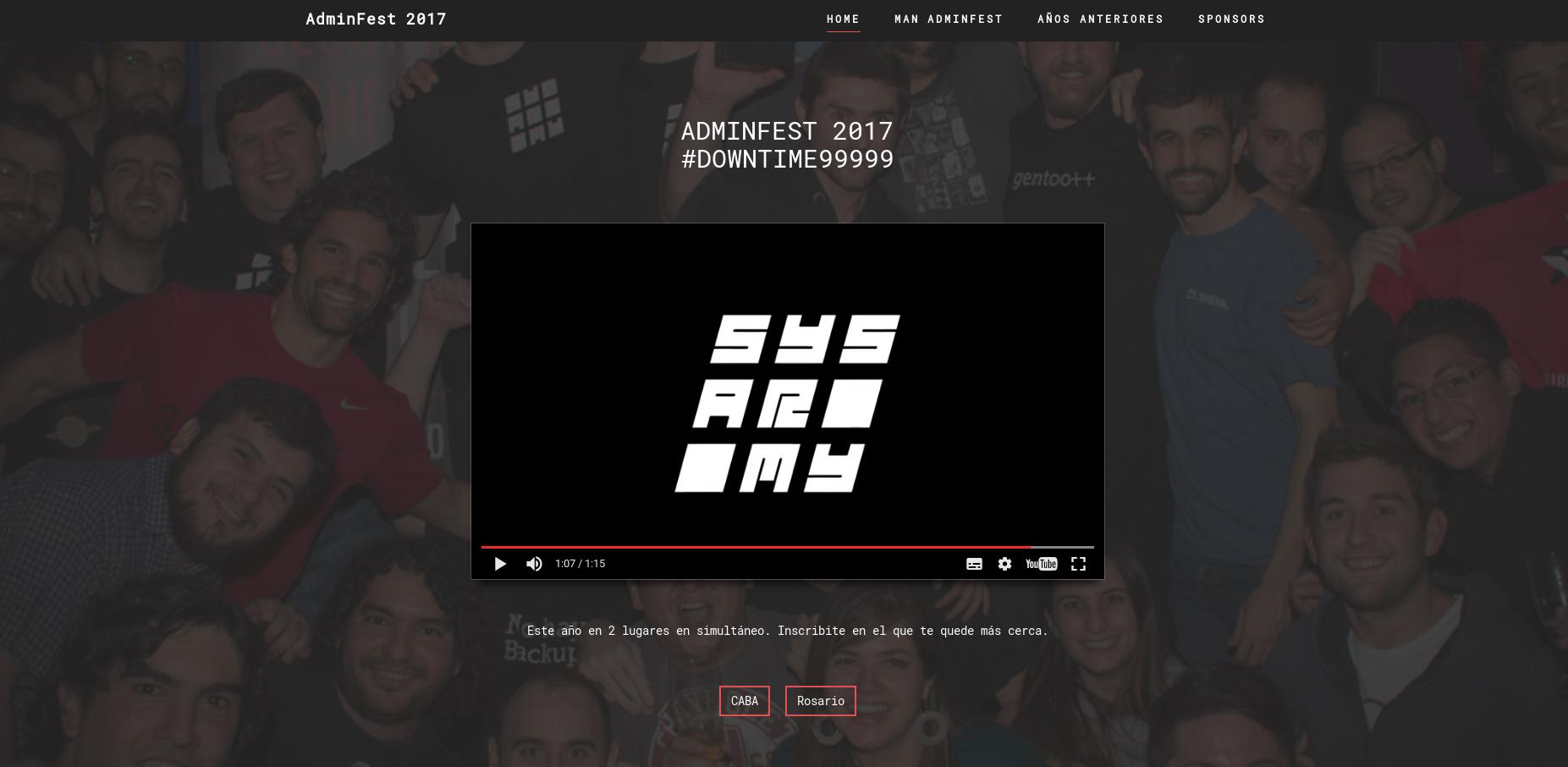 Sitio AdminFest 2017