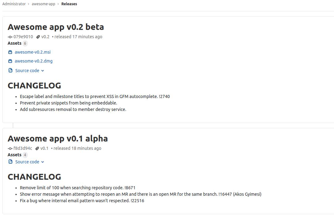 ejemplos Release