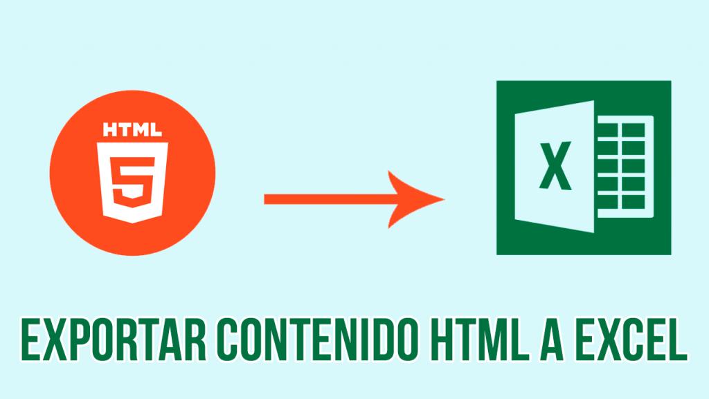 Exportar tabla html a excel en php