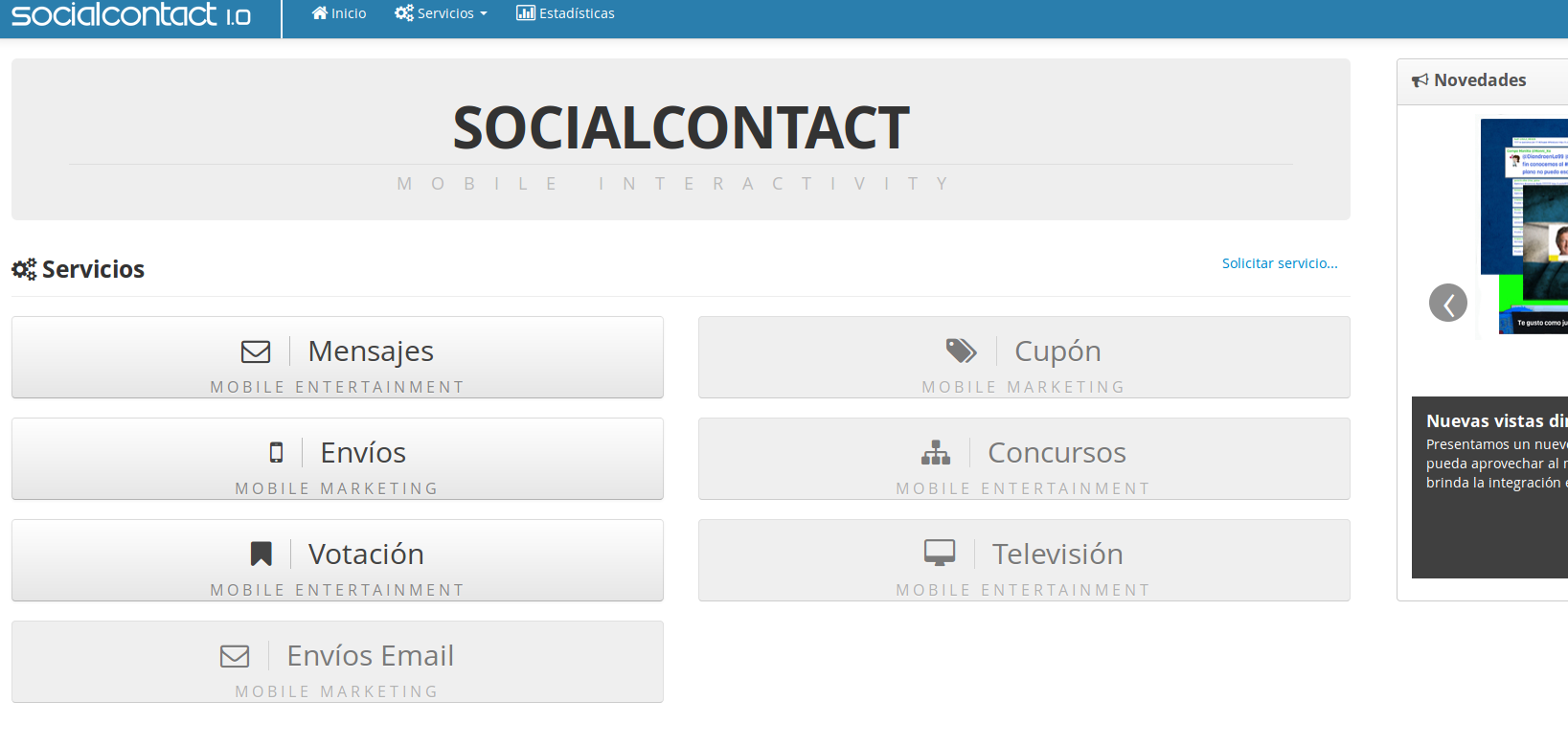 Dashboard SocialContact